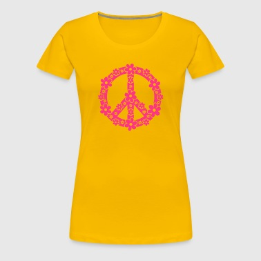 PEACE SYMBOL - peace sign, c, symbol of freedom, flower power, hippie, 68er movement, Woodstock - Women's Premium T-Shirt