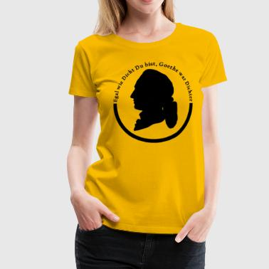No matter how close you are Goethe was poet's logo - Women's Premium T-Shirt