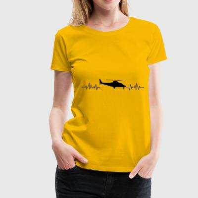 Heartbeat helicopter helicopter - Women's Premium T-Shirt