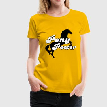 2541614 15792424 pony - Women's Premium T-Shirt