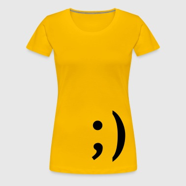 ;) smiley  zwinker - Frauen Premium T-Shirt
