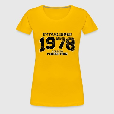 established 1978 - aged to perfection(uk) - Women's Premium T-Shirt