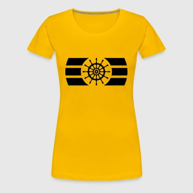 Ship Steering Wheel Logo - Women's Premium T-Shirt