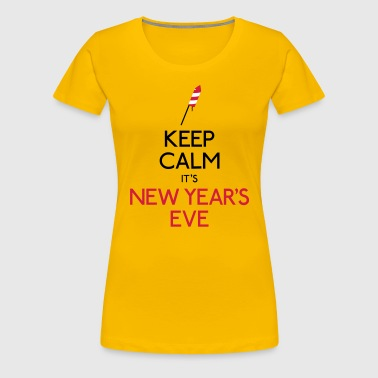 keep calm new year - Vrouwen Premium T-shirt