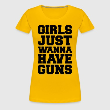 Girls Have Guns Gym Quote - Women's Premium T-Shirt