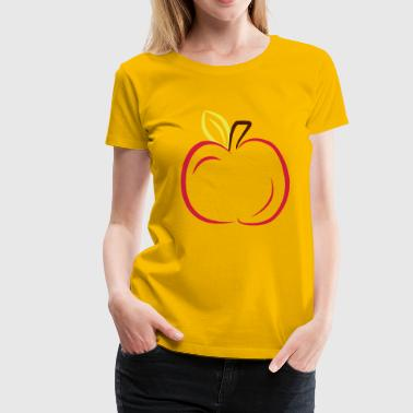 2541614 12350523 apple - Women's Premium T-Shirt