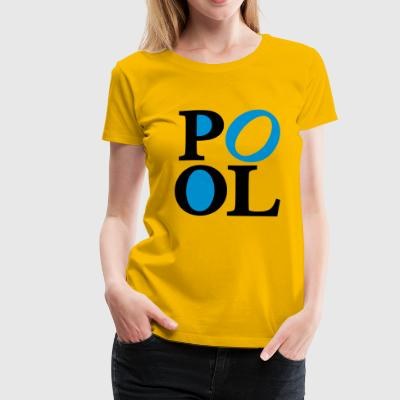 2541614 119707214 pool - Frauen Premium T-Shirt