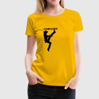 Cow girl - Frauen Premium T-Shirt