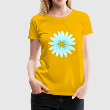 Teal Daisy Top Down - Premium-T-shirt dam