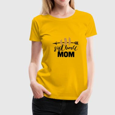 Softball Mom - Vrouwen Premium T-shirt