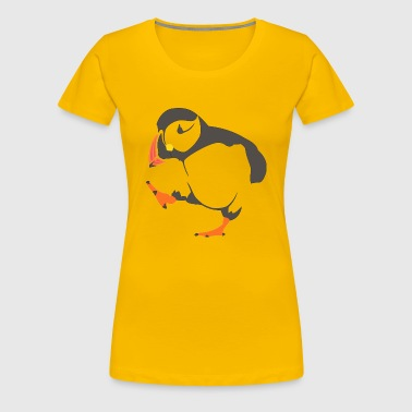 Walking  puffin - Women's Premium T-Shirt