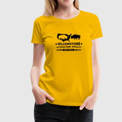 Buffalo Bison Buffalo Yellowstone National Park USA - Premium T-skjorte for kvinner