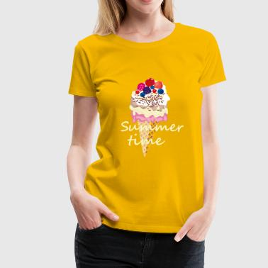 Summer time with fresh fruits and delicious ice cream - Women's Premium T-Shirt