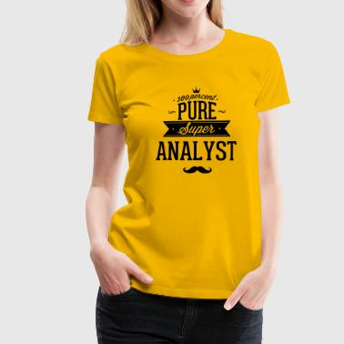 100 percent pure super analyst - Frauen Premium T-Shirt