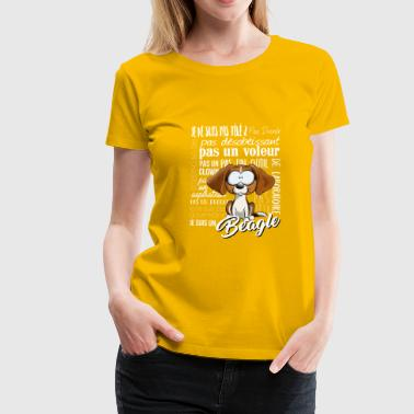 I Am Beagle - Tricolore IT - Maglietta Premium da donna
