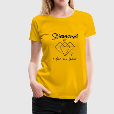 diamanter - Dame premium T-shirt