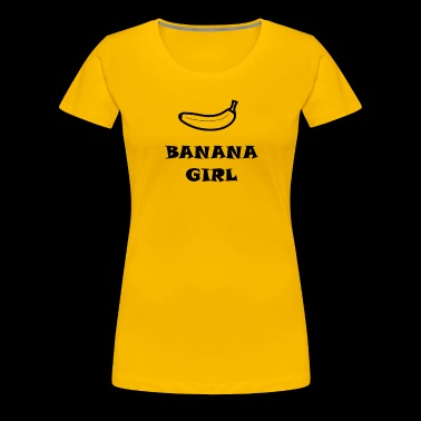 BANANA GIRL Bananen Design - Frauen Premium T-Shirt