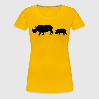 Rhinoceros family - Women's Premium T-Shirt