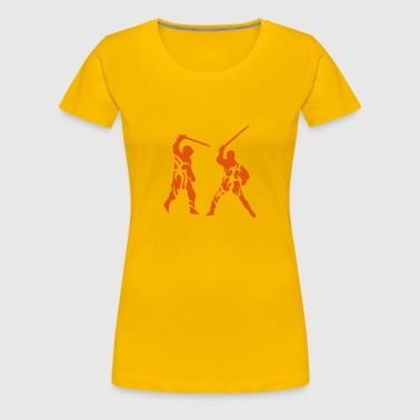 Sword fight tribal eu - Women's Premium T-Shirt