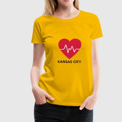 Heart Kansas City - Women's Premium T-Shirt
