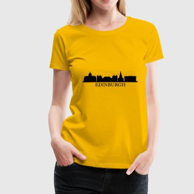 Edinburgh Skyline - Frauen Premium T-Shirt