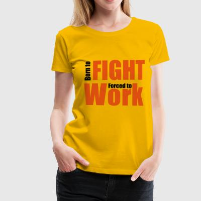 2541614 13972373 fighting - Premium-T-shirt dam