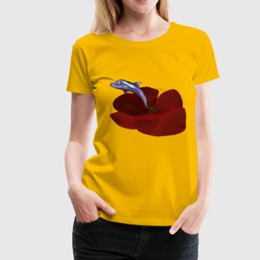 delfin flower - Women's Premium T-Shirt