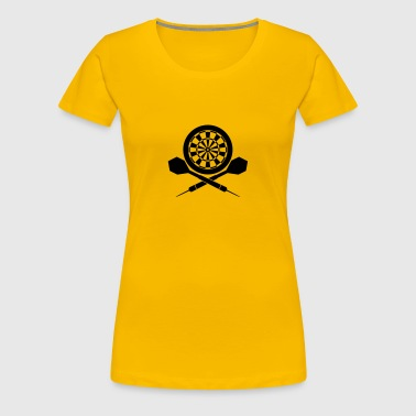 Darts Board Logo - Frauen Premium T-Shirt
