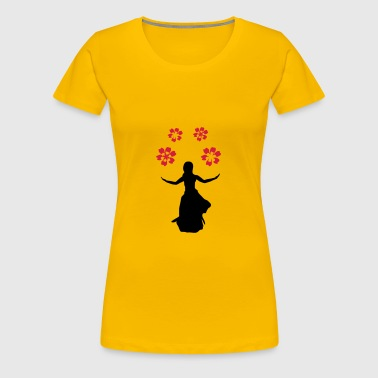 flower girl, silhouette - Women's Premium T-Shirt