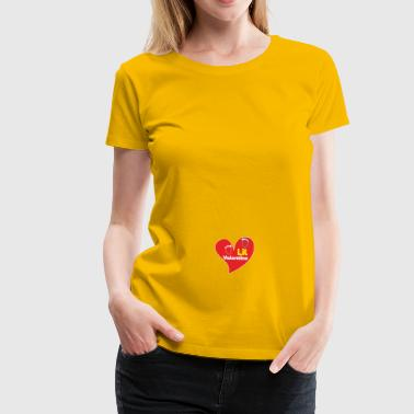 Womens Lil Valentine - Pregnancy Announcement gift - Women's Premium T-Shirt