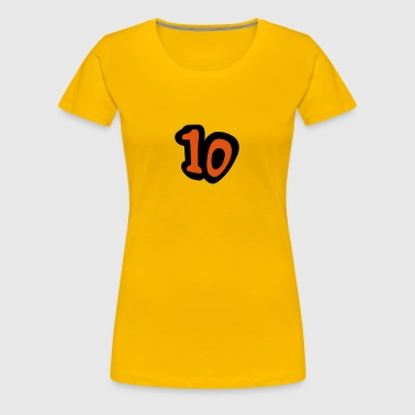 Number 10 Comic Design - Women's Premium T-Shirt
