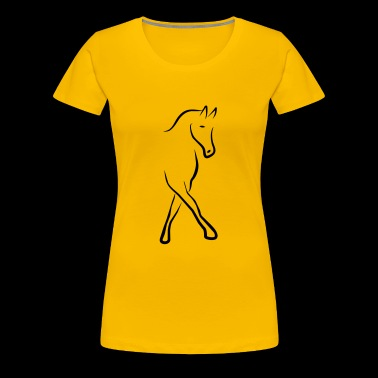 2541614 13004536 dressage horse - Women's Premium T-Shirt