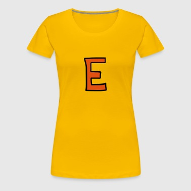 Letter E cartoon cartoon - Women's Premium T-Shirt