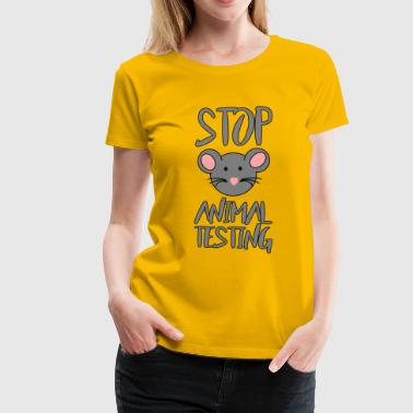 STOP ANIMAL TESTING MOUSE - Women's Premium T-Shirt