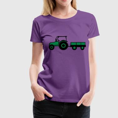 Tractor With Trailer - Women's Premium T-Shirt