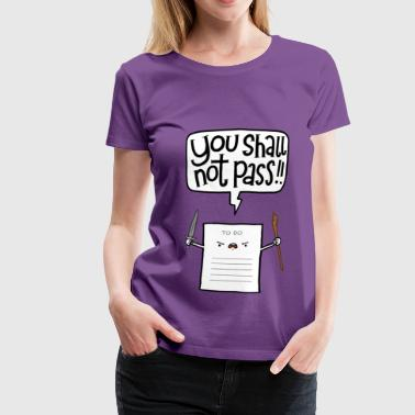 Collection You shall not pass - Women's Premium T-Shirt