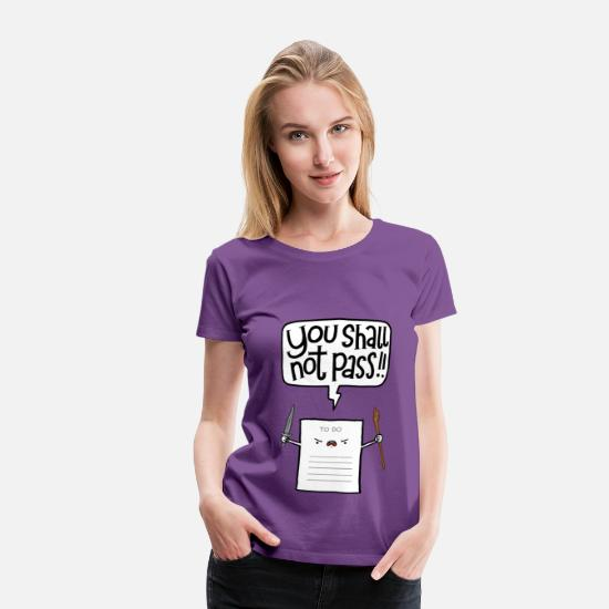 Funny T-Shirts - You shall not pass - Women's Premium T-Shirt purple