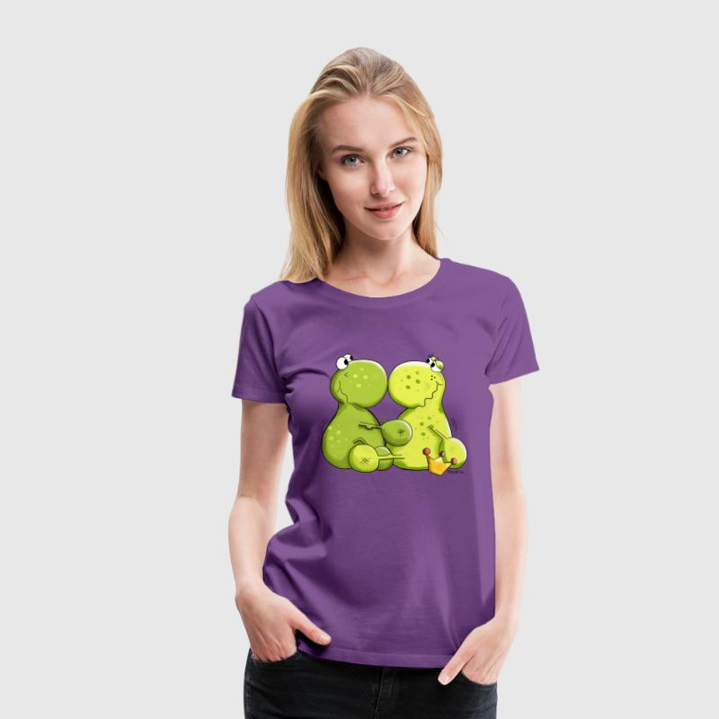 Frösche in Love - Frauen Premium T-Shirt