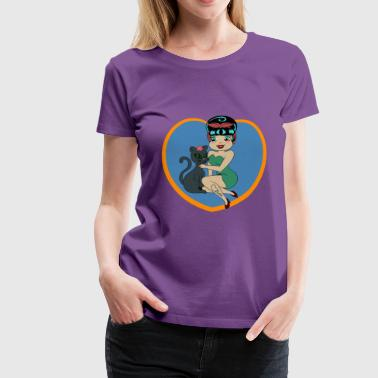 Molly and the Cat - Frauen Premium T-Shirt
