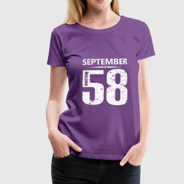 Year Of Birth September 1958 Jersey Number - Women's Premium T-Shirt
