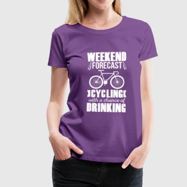 Cycling and Drinking - Women's Premium T-Shirt