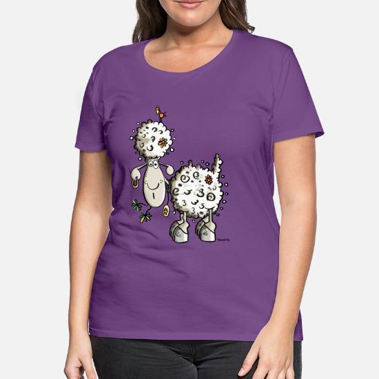 93cb1bbcc5f9 Hippie fåren - Premium T-shirt dam. Bak. Bak. Motiv. Fram. Fram