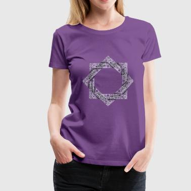 Silver Star of Lakshmi - Ashthalakshmi  - Women's Premium T-Shirt