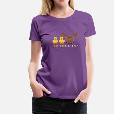 Rubber Duck Duck Duck Moose - Women's Premium T-Shirt