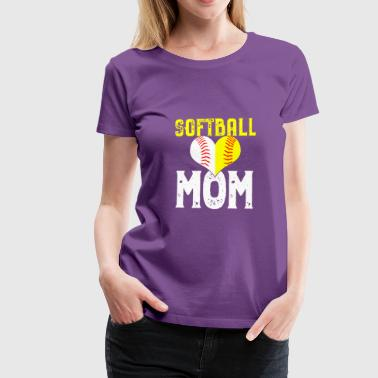 Softball Mom love gift - Camiseta premium mujer