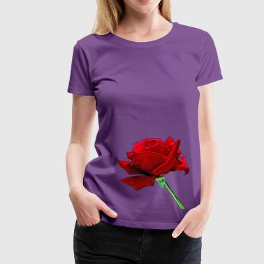 Beautiful Because A red rose because life is beautiful - Women's Premium T-Shirt