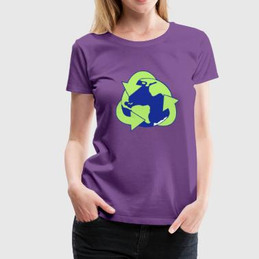 Planet Reduce Reuse Recycle - Premium-T-shirt dam