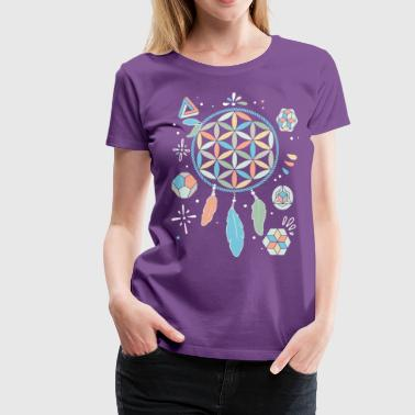 holy geometry feather - Frauen Premium T-Shirt