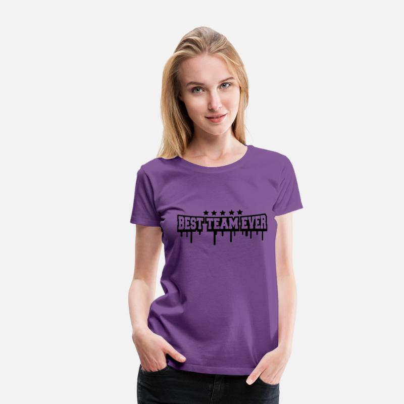 Best T-Shirts - Best Team Ever Stamp - Women's Premium T-Shirt purple