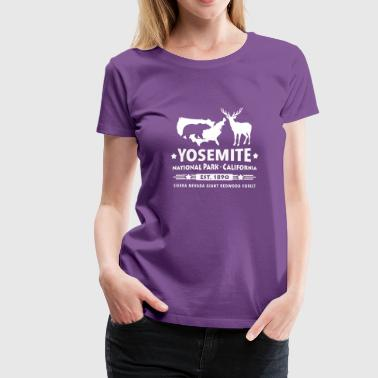 Yosemite National Park Schwarzbär Hirsch Redwood - Frauen Premium T-Shirt